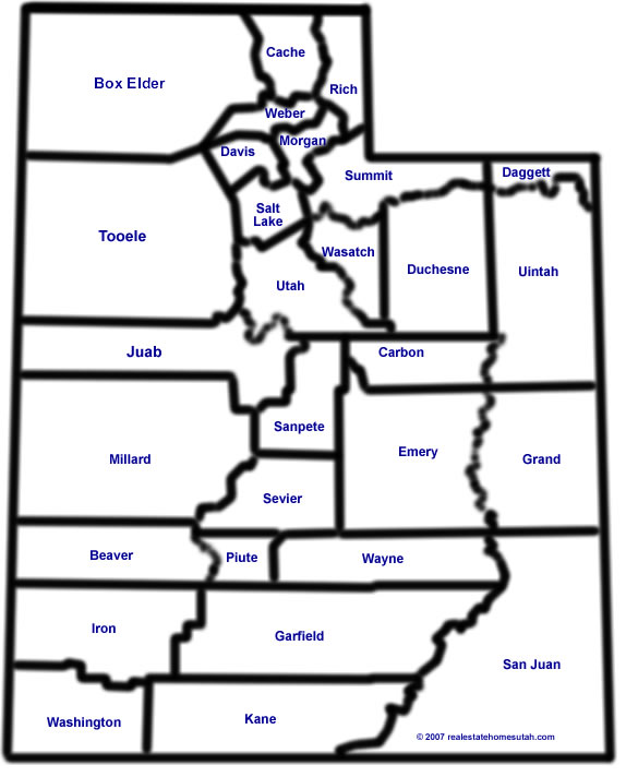 utah map by county bnhspinecom